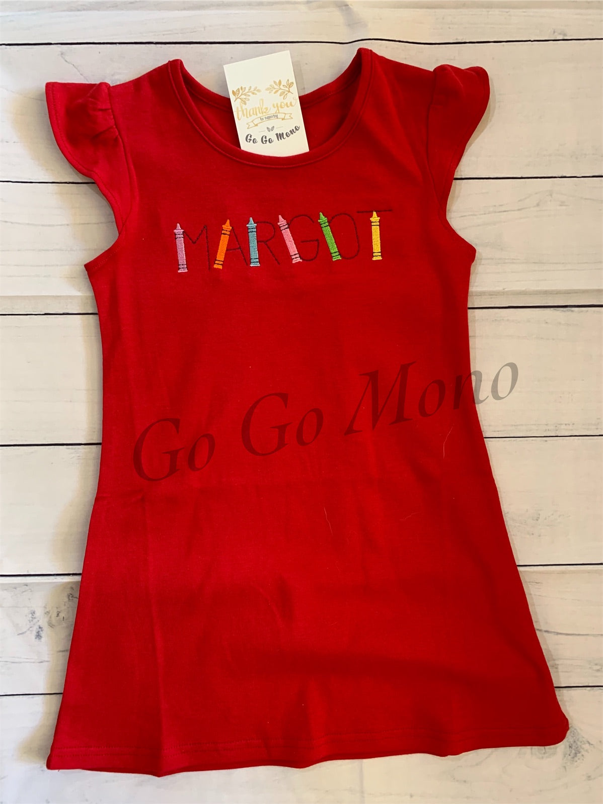 Crayon Back To School Dress