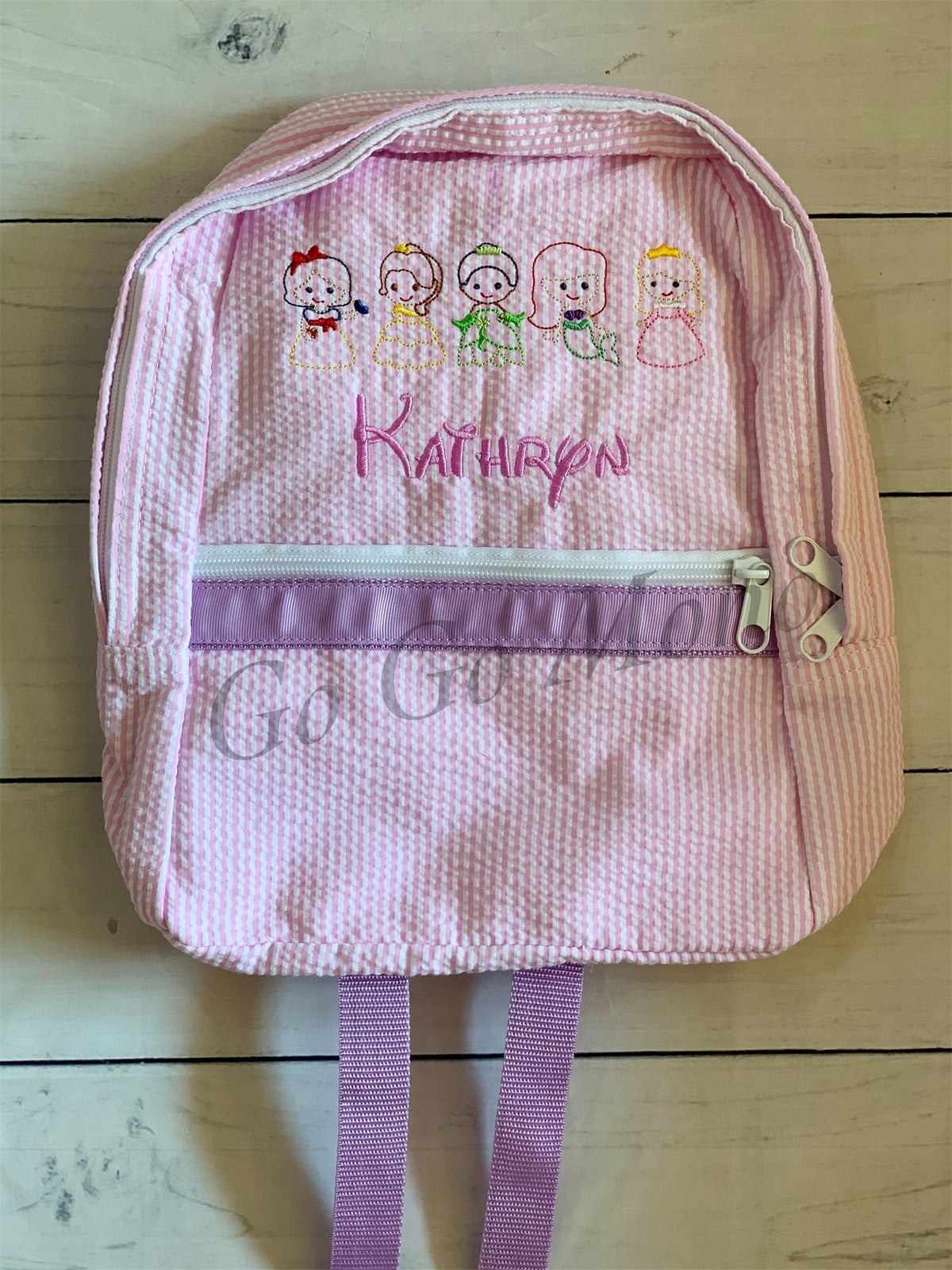 Small Mint Brand Princess Seersucker Backpack