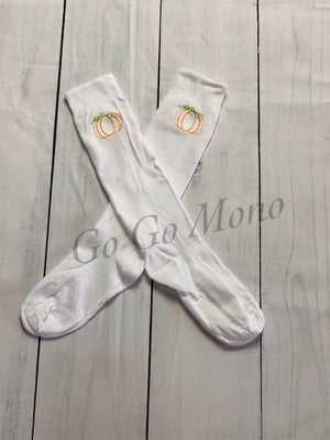 Pumpkin Knee High Nylon Socks
