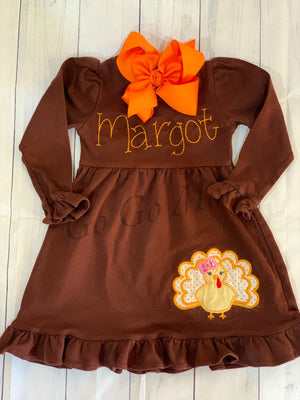Applique Turkey Dress