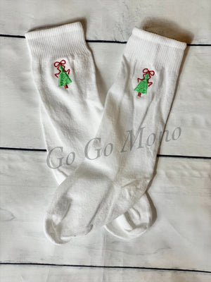 Christmas Tree Knee Socks