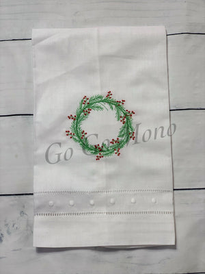 Christmas Wreath Guest Towel