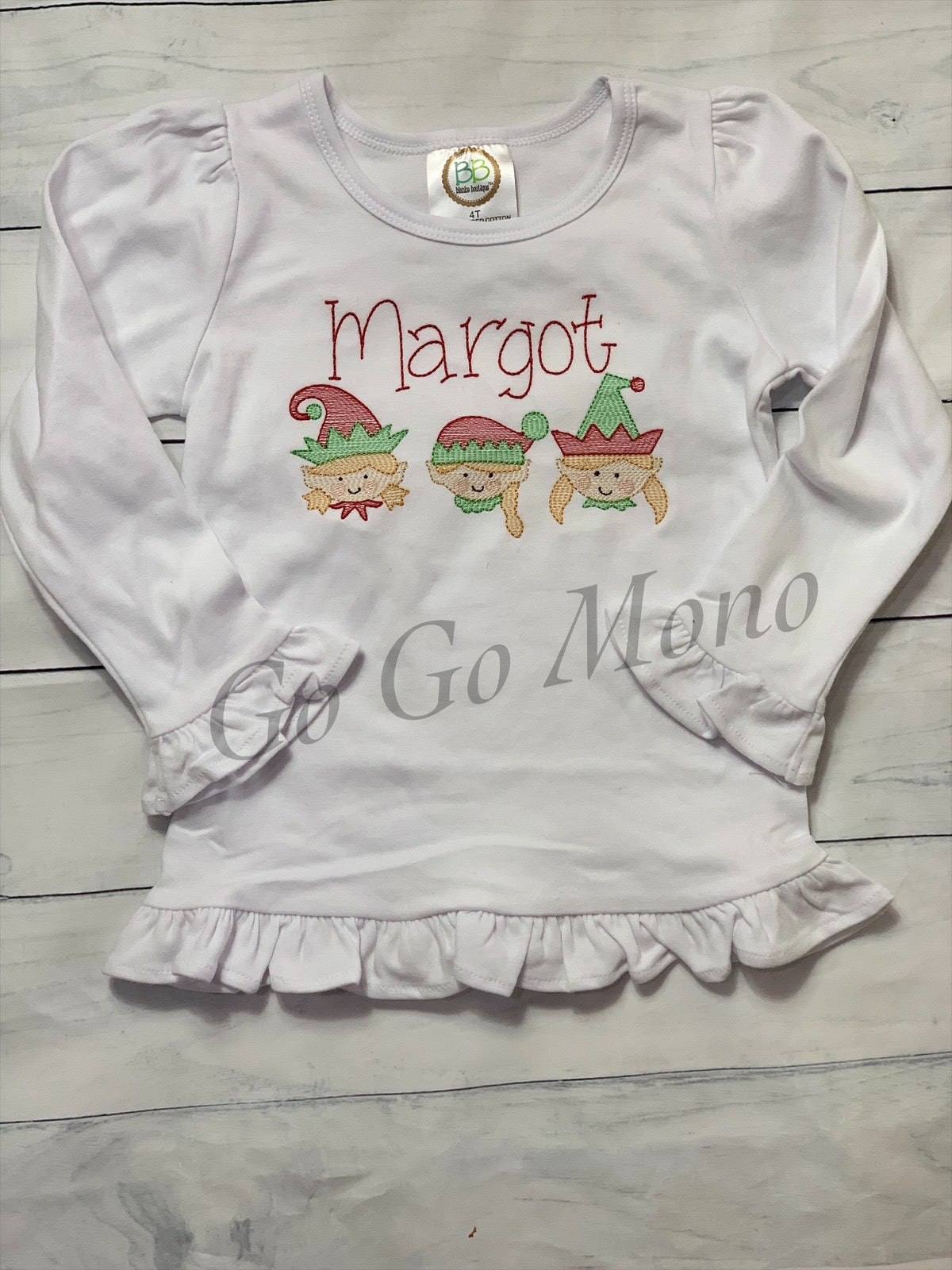 Christmas Elf Shirt for Girl