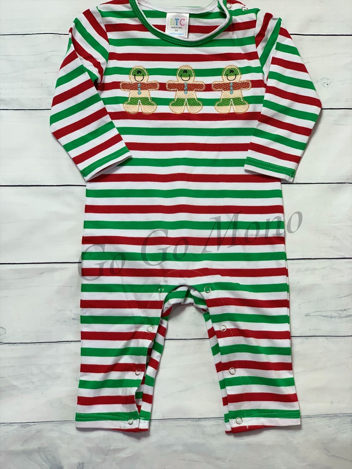 Christmas Romper with Gingerbread Men