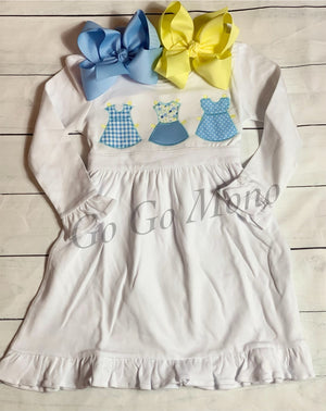 Paper Doll Applique Dress