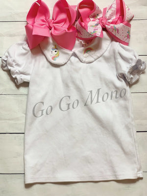 Unicorn Peterpan collar Shirt