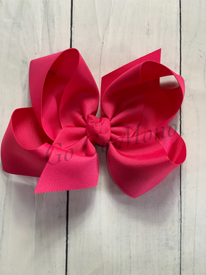 "Hot Pink  6.5"" Bow"