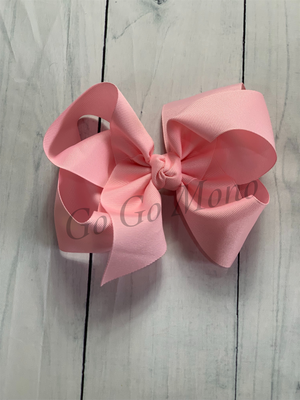 "Light Pink 6.5"" Bow"
