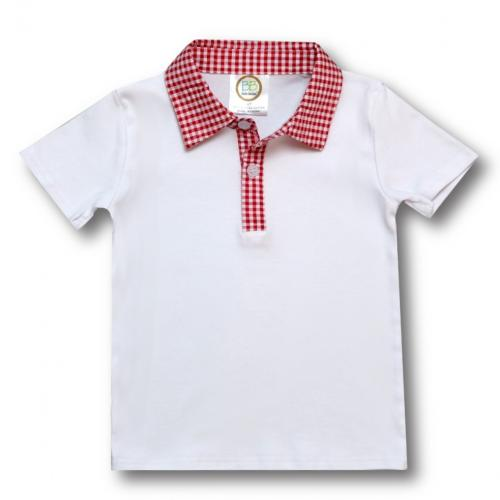 Crayon on Gingham Collar Shirt and Short Set