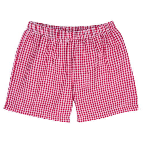 Duck Monogram on Gingham Collar Shirt and Short Set