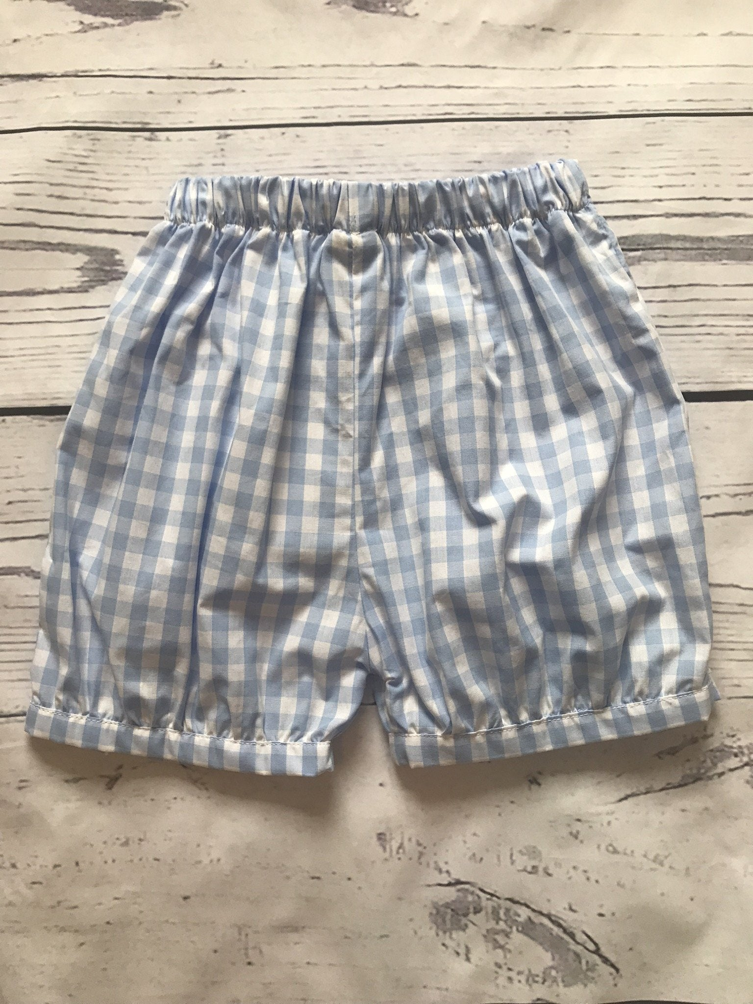 Gingham Banded Shorts