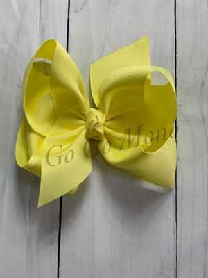 "Yellow 6.5"" Bow"