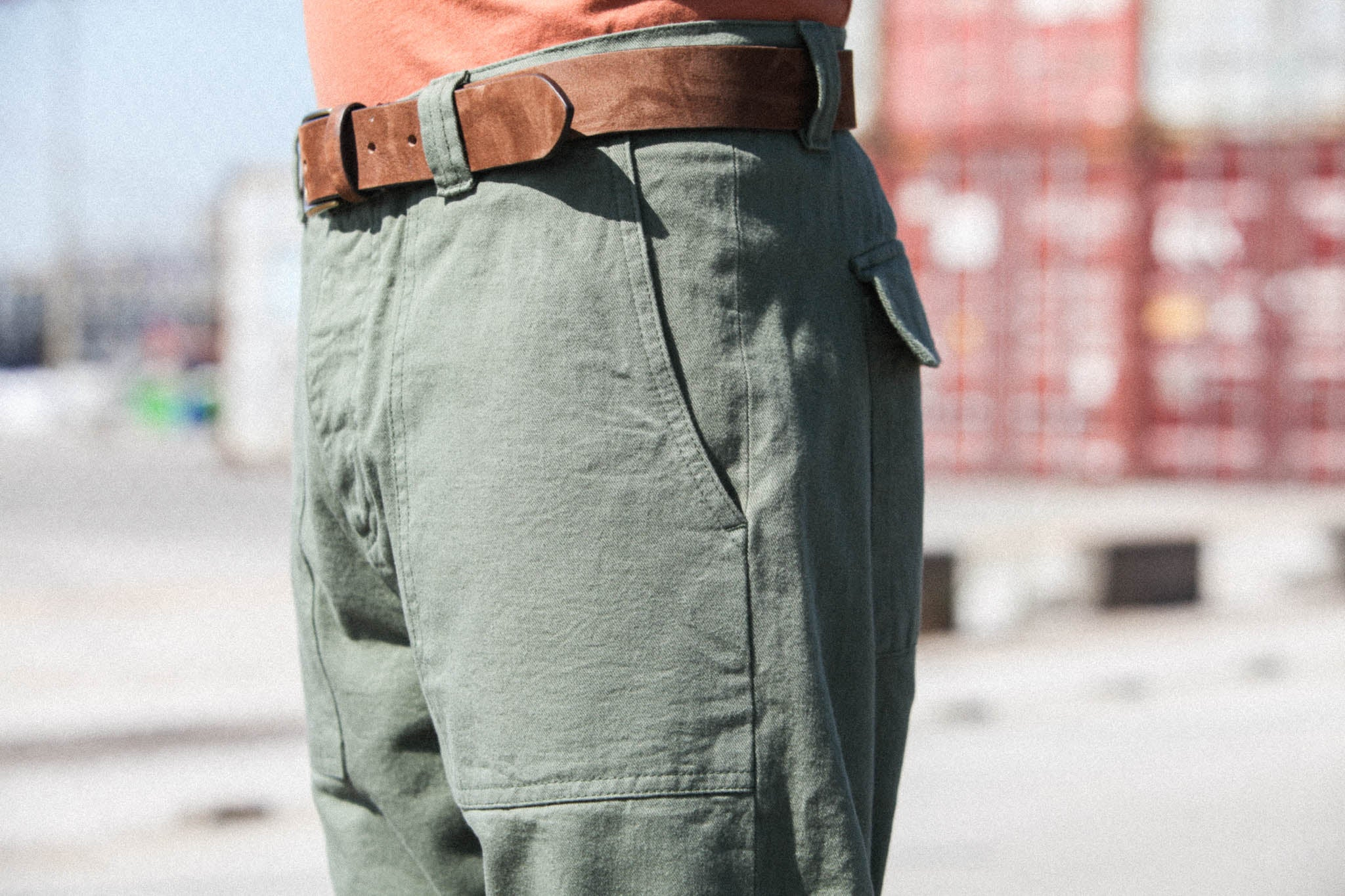 Fatigue Shorts Japanese Selvedge Vert Armée