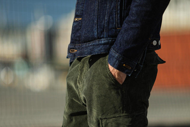 Cargo Pants Velours Khaki