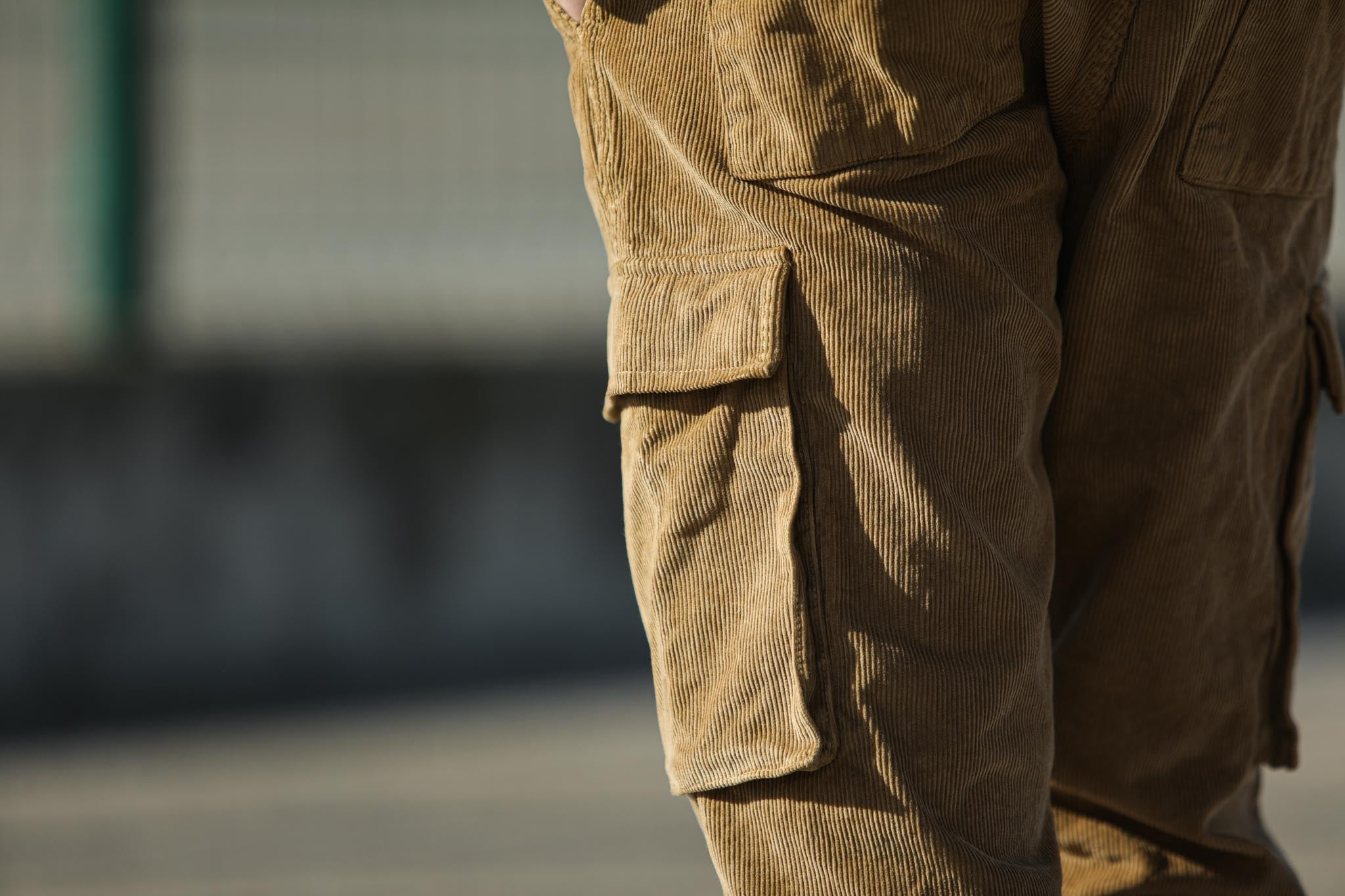Cargo Pants Velours Beige