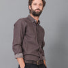 Chemise Denim Washed Marron