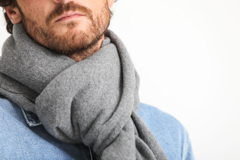 Lambswool Oversized Scarf Gris