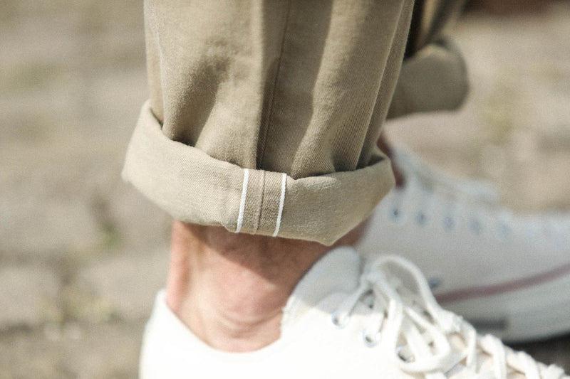 Fatigue Pants Kuroki Selvedge Beige