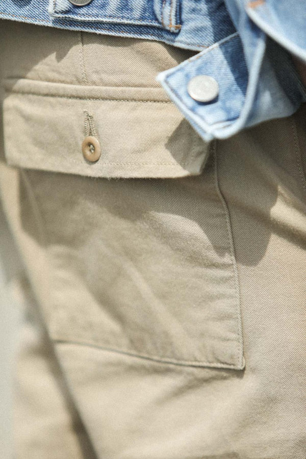 Fatigue Pants Japonais Selvedge Beige