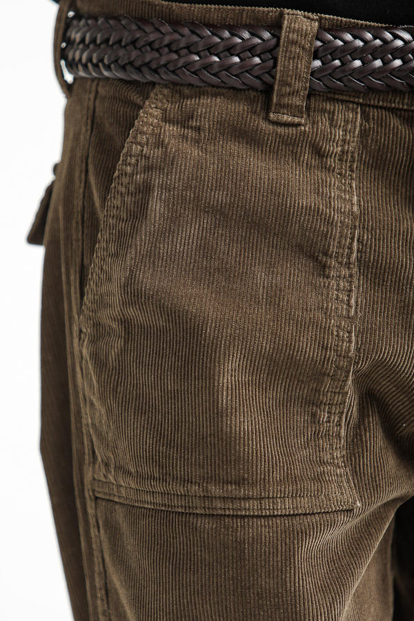 Fatigue Pants Dyed Velours Tabac