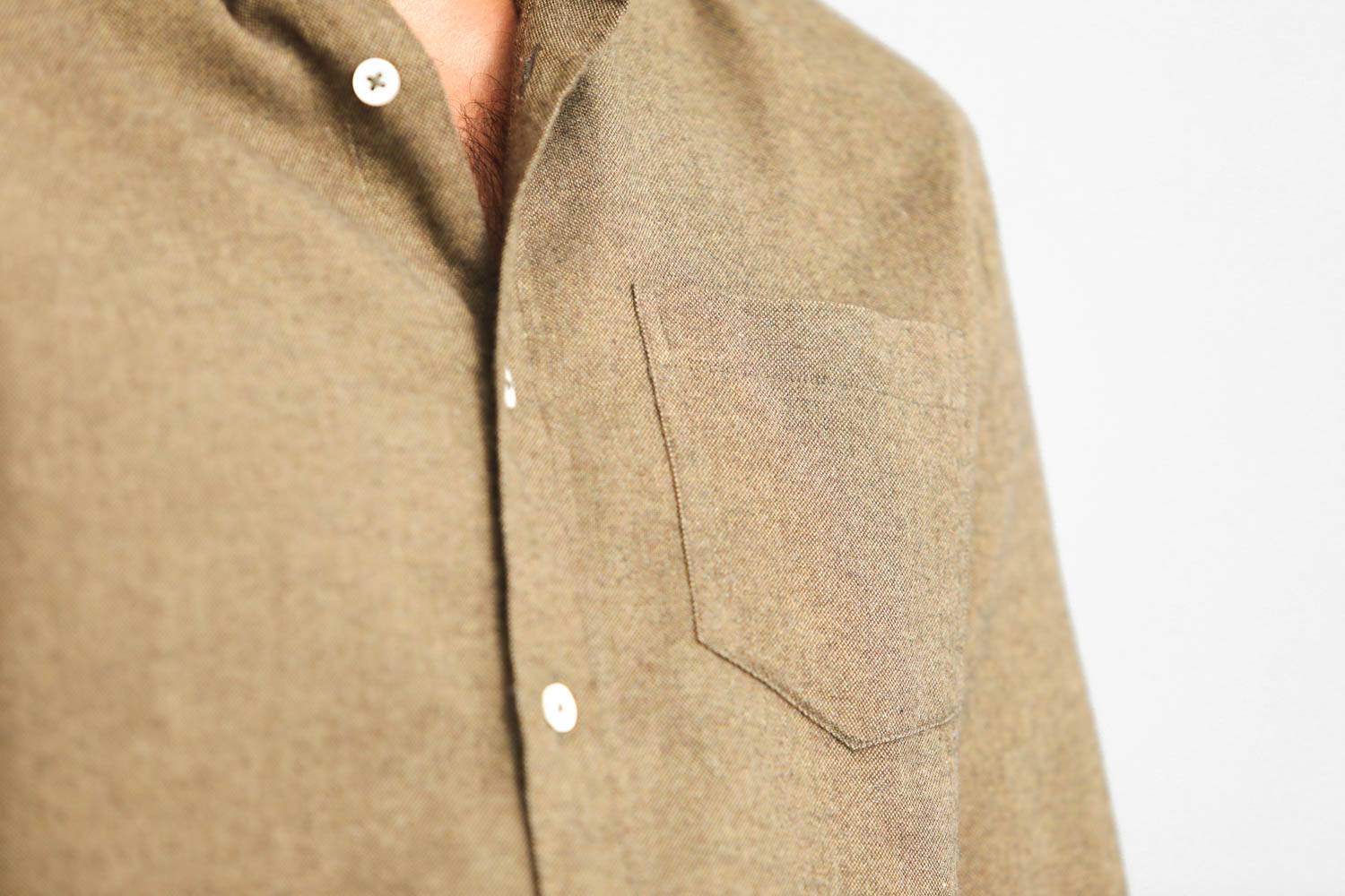 Chemise Flanelle Oxford Olive