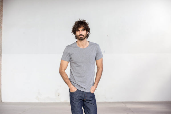 Tee-shirt Pocket Gris