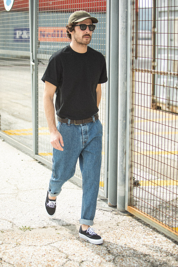 Painter Pants Denim Japonais Stonewash Bleu