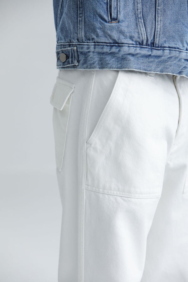 Fatigue Pants Denim Kuroki Blanc