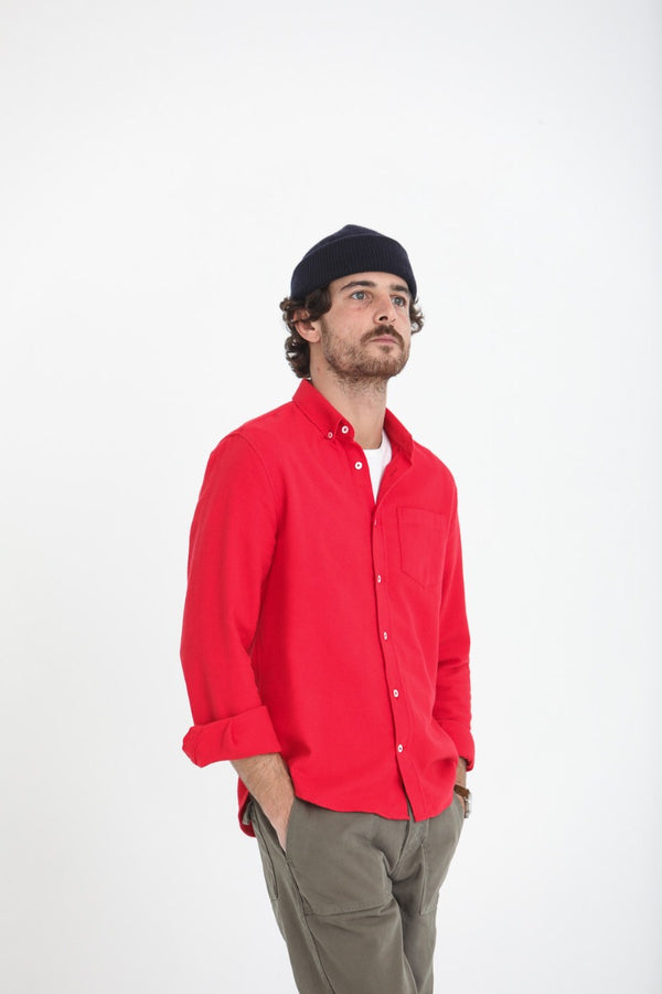 Chemise Flanelle Twill Rouge