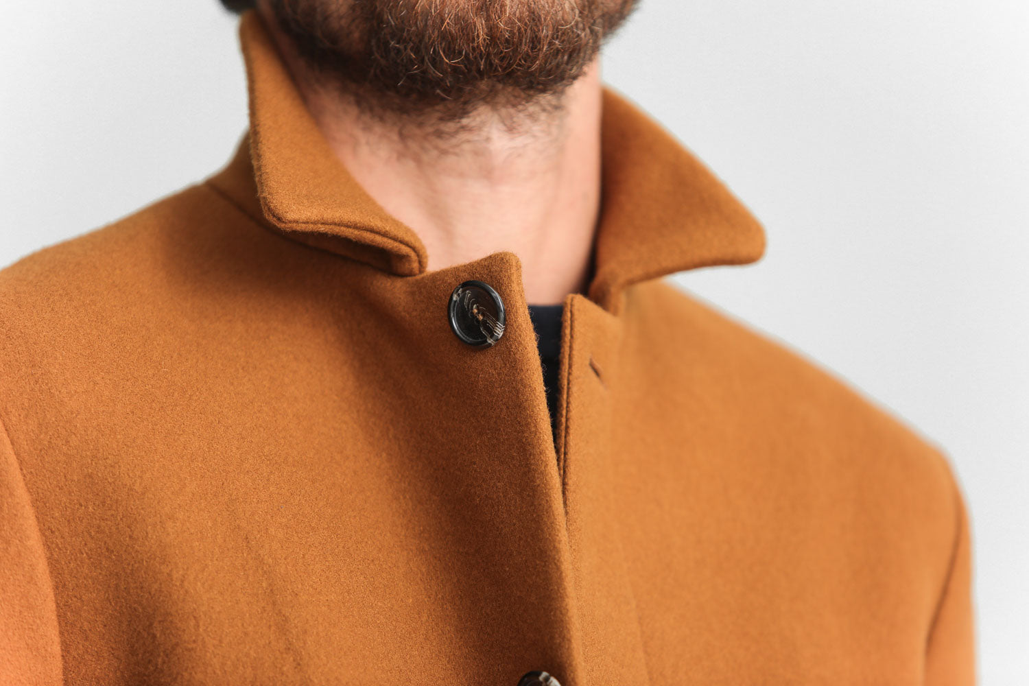Manteau Mac Laine Rouille