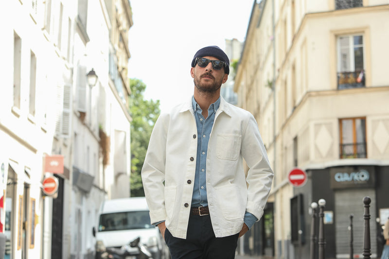 Veste Worker Japanese Denim Blanche