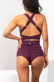 Lunalae Tara Mulberry shorts high waisted
