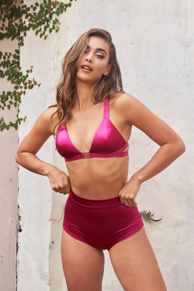 Follow me bra - Satin Magenta Lunalae