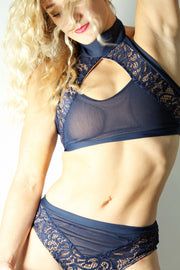 Navy Marvel-Lace from The Bendy Brand Pole Wear