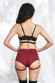 Matching top luna garter shorts