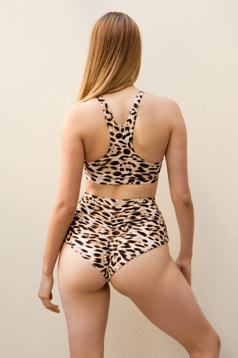 Lunalae Pole fitness leopard top