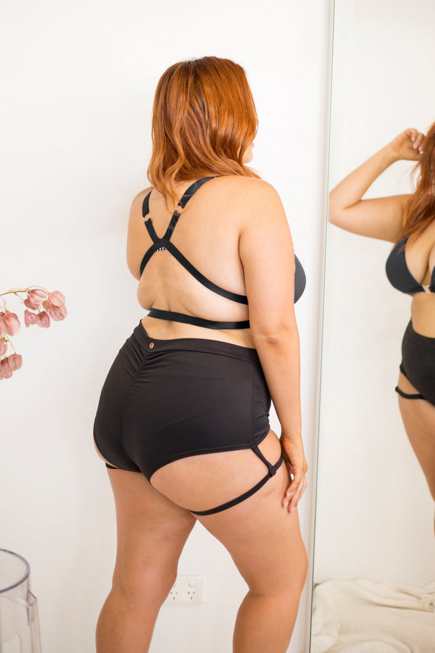 Garter shorts Plus size