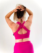 Polehog Strappy back top - Pink
