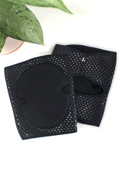 Black sticky knee pads for kips and pole fitness