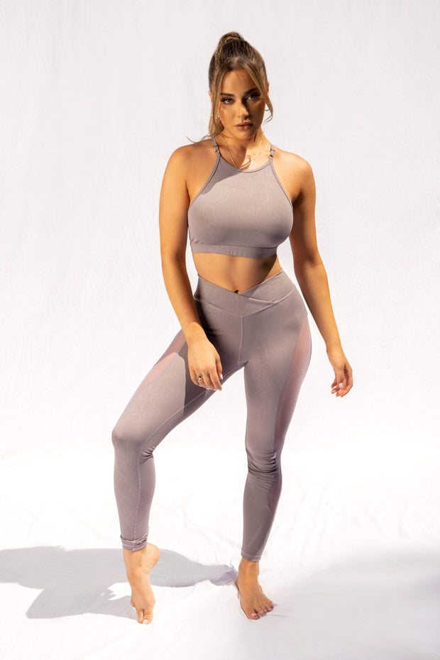 Lilac Snake Leggings