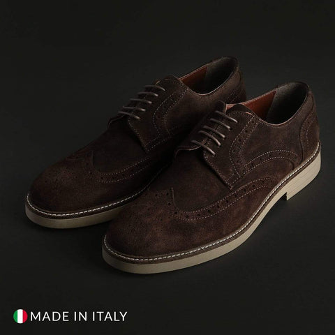 Madrid Shoes Lace-up shoes brown-2 / EU 40 Madrid - 606_CAMOSCIO