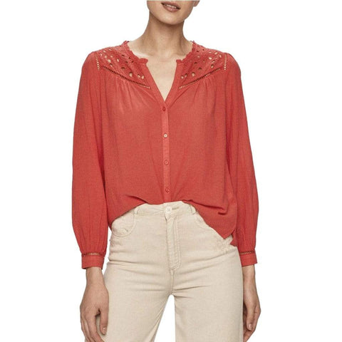 Pepe Jeans Bekleidung Shirts rot / XS Pepe Jeans - CARINA_PL303953