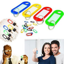 10 Pack Key Tags with Label Window - Plastic, 2