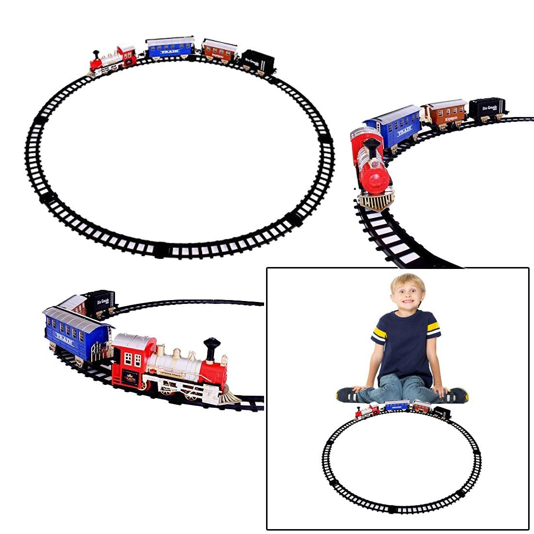 dazzling toys Battery Operated Classic Train Set - Railroad Cart