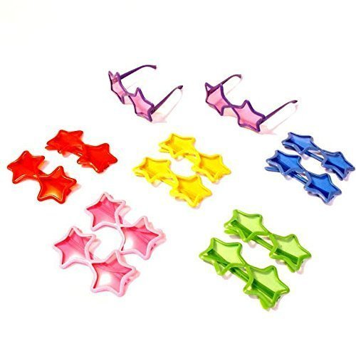 Dazzling Toys Star Shaped Sunglasses - Pack of 12
