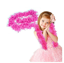 "Pink Feather Boa - Dress Up Toy or Accessory For Costume Parties, Halloween - One Sizs Fits All, Kids and Adults - 76"" Long X 6.5"" Wide - By Dazzling Toys"