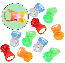 dazzling toys Flashing LED Multi Color Flower Finger Rings |12 Pack