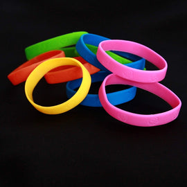 48 Pack Bracelets | 4 Dozen Rubber Neon Monkey Wristbands | Pack of 48 | Makes Great Kids Party Favors, Rewards, Gifts.