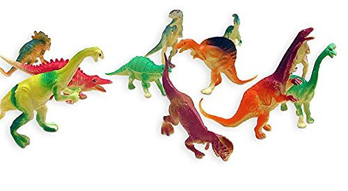 Dazzling Toys Larger Size Assorted Dinosaur Figures 4-5 Inches. Pack of 24.