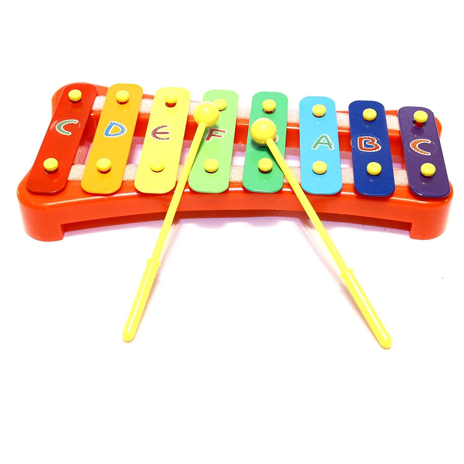 Xylophone | Dazzling Toys Letters Basic Colored Xylophone with 2 Sticks | Musical Toy for Kids